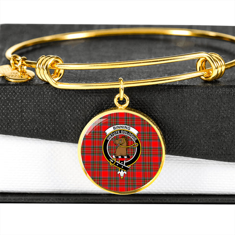 Binning Tartan Crest Circle Bangle HJ4