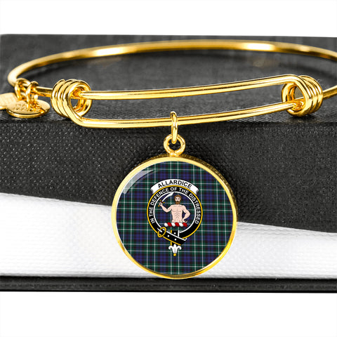 Allardice Tartan Crest Circle Bangle HJ4