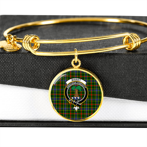 Bisset  Tartan Crest Circle Bangle HJ4