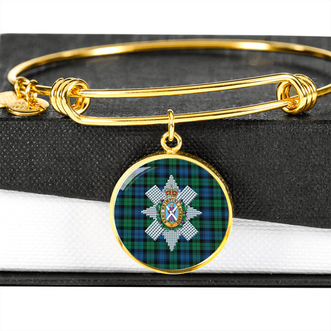 Blackwatch Ancient Tartan Crest Circle Bangle HJ4