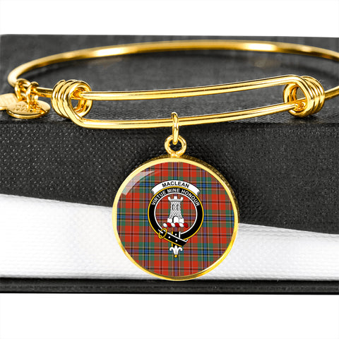 Image of MacLean of Duart Ancient Tartan Crest Circle Bangle HJ4