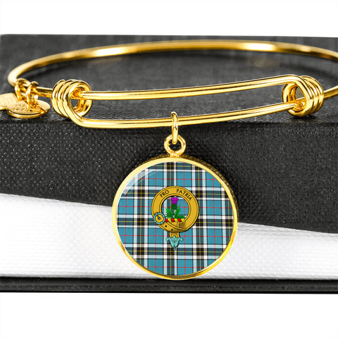 Image of Thomson Tartan Crest Circle Bangle HJ4