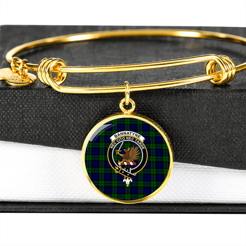 Bannatyne  Tartan Crest Circle Bangle HJ4