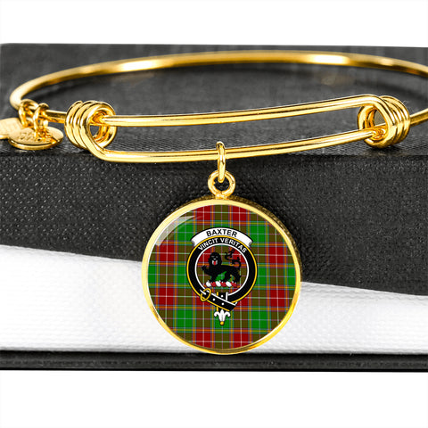 Baxter Modern  Tartan Crest Circle Bangle HJ4
