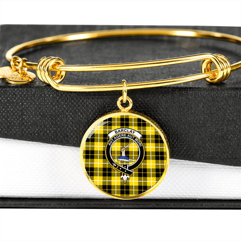 Barclay Dress Modern  Tartan Crest Circle Bangle HJ4