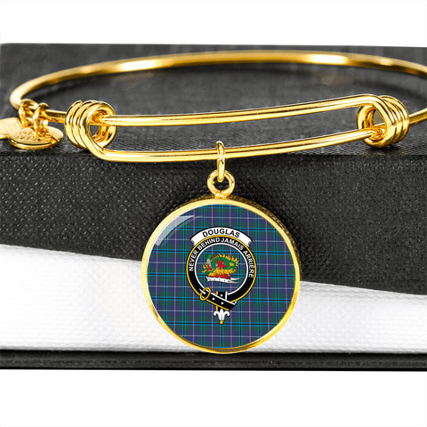 Douglas Modern  Tartan Crest Circle Bangle HJ4