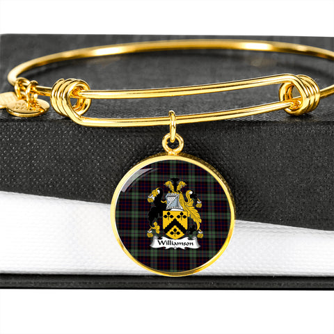 Image of Williamson Tartan Crest Circle Bangle HJ4