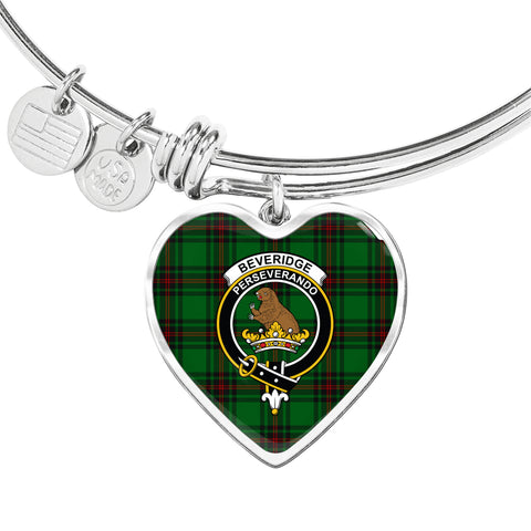 Beveridge  Tartan Crest Heart Bangle