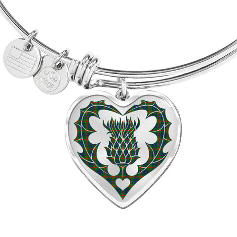 Image of Aiton Tartan Bangle Thistle Heart Shape TH8