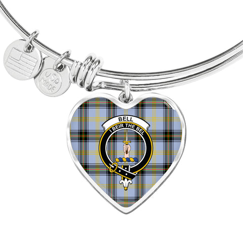Image of Bell of the Borders  Tartan Crest Heart Bangle HJ4