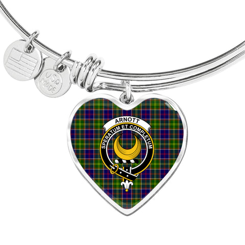 Arnott Tartan Crest Heart Bangle HJ4
