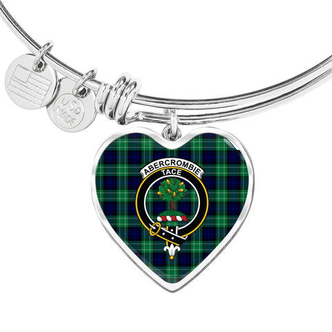 Abercrombie Tartan Crest Heart Bangle