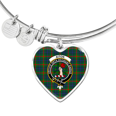 Aiton Tartan Crest Heart Bangle