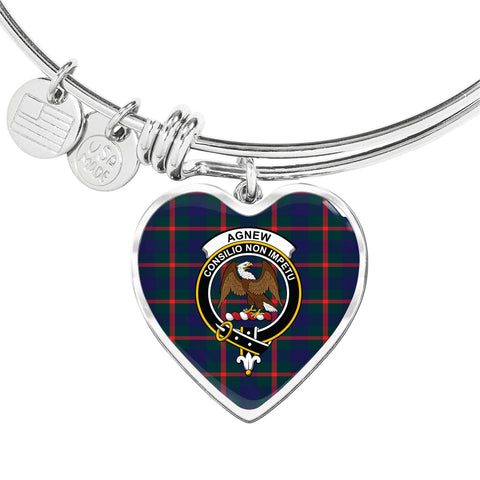 Agnew Modern  Tartan Crest Heart Bangle HJ4