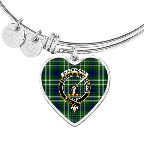 Blackadder Tartan Crest Heart Bangle
