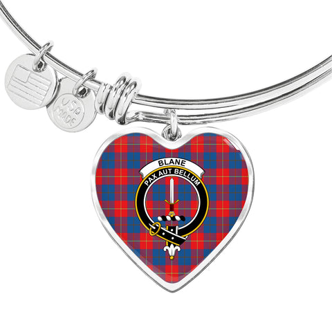 Blane Tartan Crest Heart Bangle