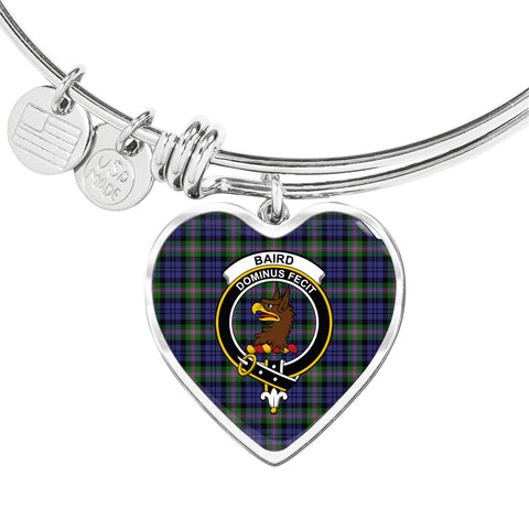 Image of Baird Modern  Tartan Crest Heart Bangle HJ4
