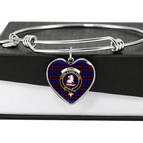 Home Modern Tartan Crest Heart Bangle HJ4