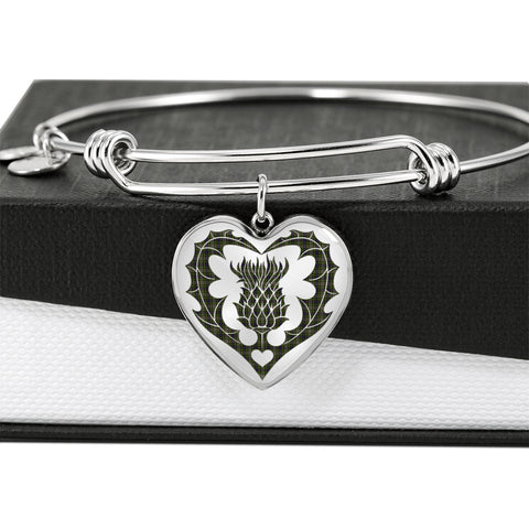 Davidson Tulloch Dress Tartan Bangle Thistle Heart Shape