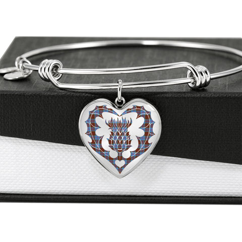 Image of Anderson Modern Tartan Bangle Thistle Heart Shape