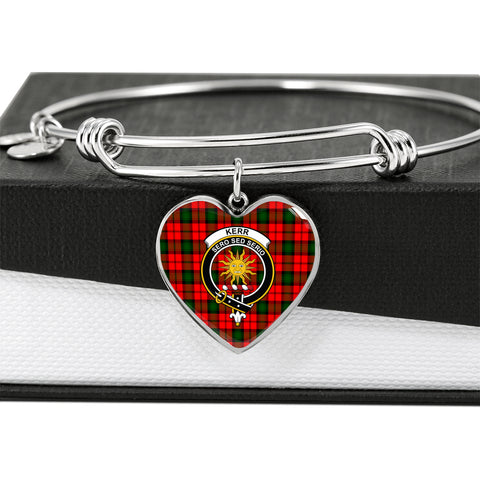 Image of Kerr Modern Tartan Crest Heart Bangle