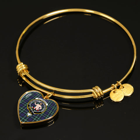 Image of Allardice Tartan Crest Heart Bangle HJ4