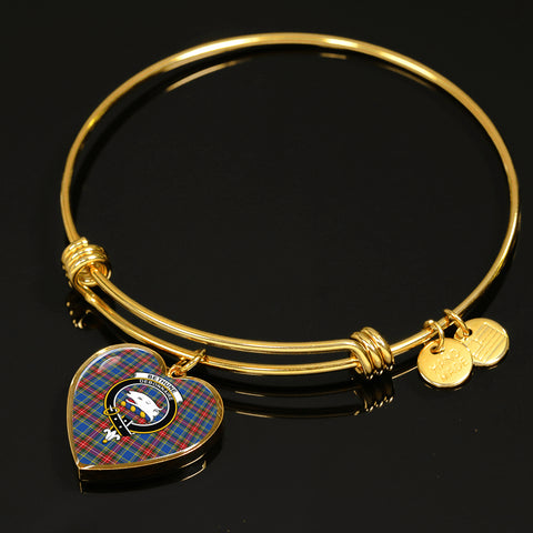 Bethune  Tartan Crest Heart Bangle