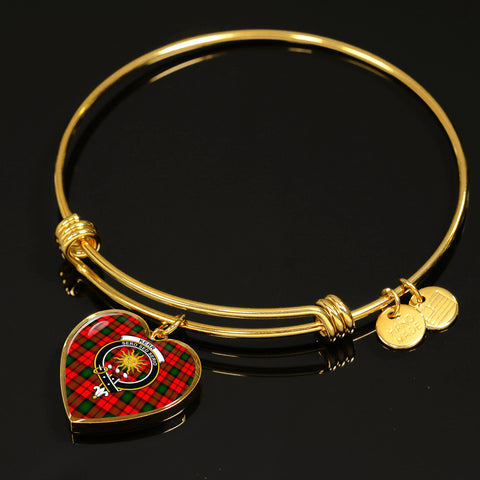 Kerr Modern Tartan Crest Heart Bangle