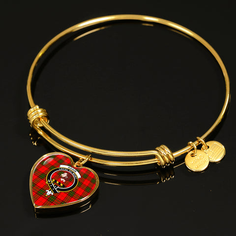 Adair  Tartan Crest Heart Bangle HJ4