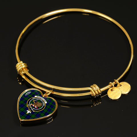 Bannatyne  Tartan Crest Heart Bangle