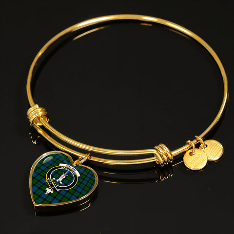 Mackay Mordern Tartan Crest Heart Bangle HJ4