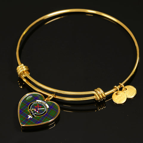 Image of Adam  Tartan Crest Heart Bangle HJ4
