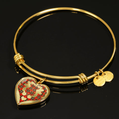 Drummond of Perth Tartan Bangle Thistle Heart Shape TH8