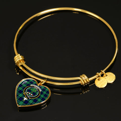 Image of Abercrombie Tartan Crest Heart Bangle HJ4
