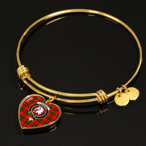 Image of Dunbar Modern  Tartan Crest Heart Bangle HJ4