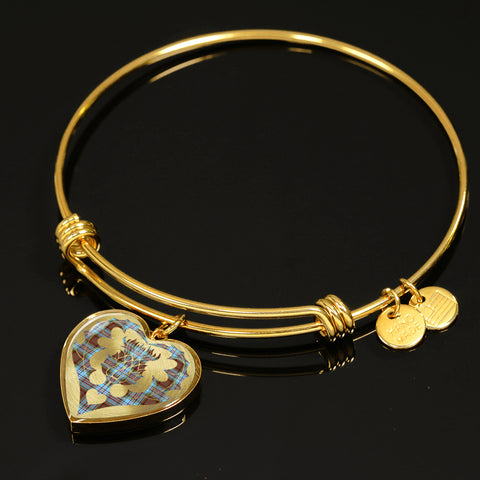 Anderson Ancient Tartan Bangle Thistle Heart Shape TH8