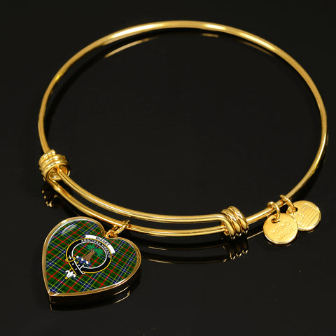 Bisset  Tartan Crest Heart Bangle