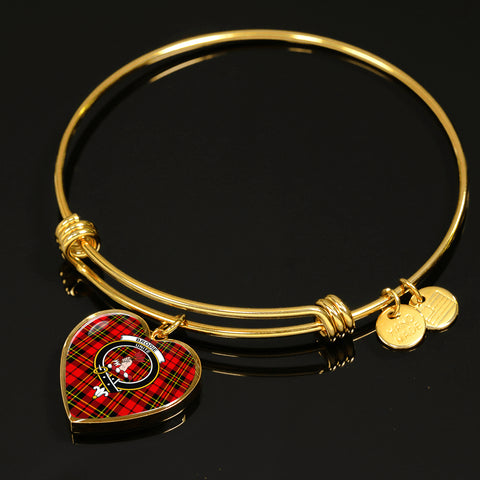 Brodie Modern  Tartan Crest Heart Bangle HJ4