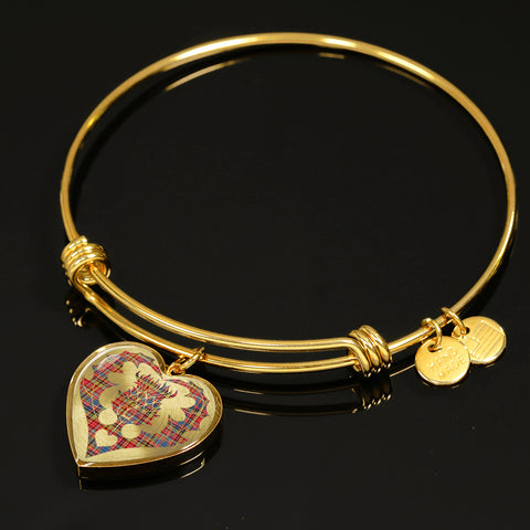 Image of Drummond of Strathallan Tartan Bangle Thistle Heart Shape TH8
