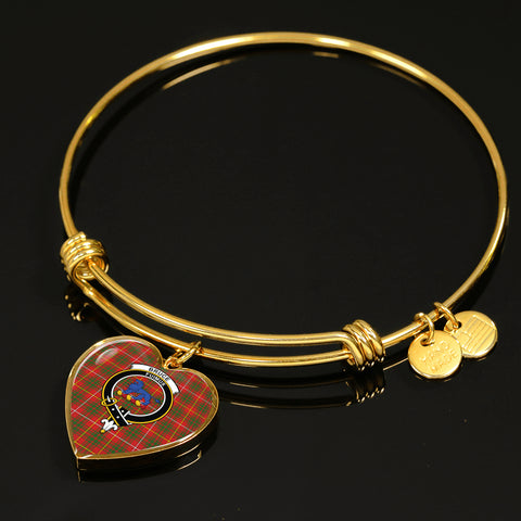 Bruce Modern  Tartan Crest Heart Bangle HJ4