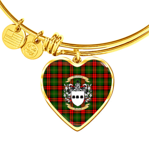 Blackstock Tartan Crest Heart Bangle