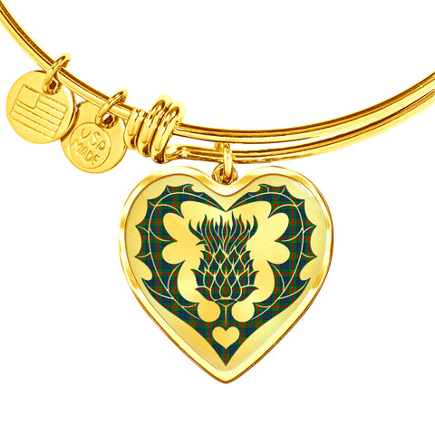 Aiton Tartan Bangle Thistle Heart Shape TH8