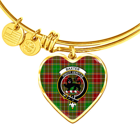 Baxter Modern  Tartan Crest Heart Bangle