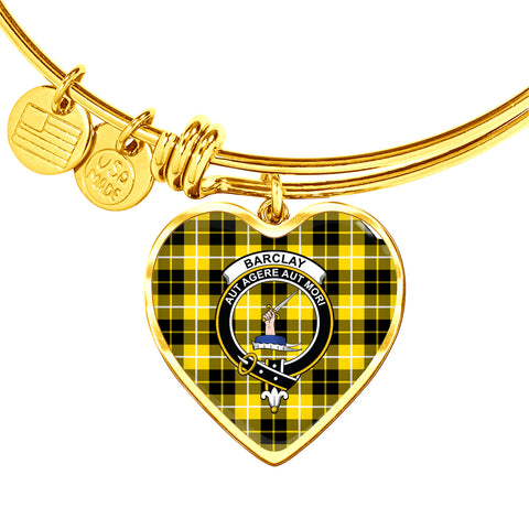 Barclay Dress Modern  Tartan Crest Heart Bangle HJ4