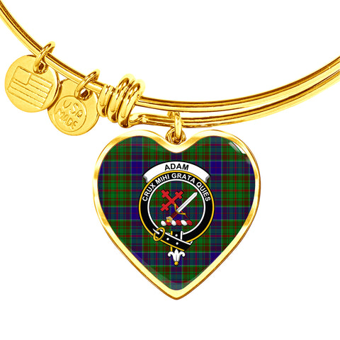 Adam  Tartan Crest Heart Bangle HJ4