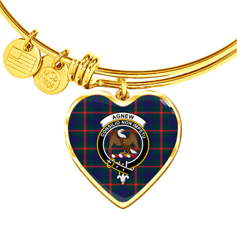 Agnew Modern  Tartan Crest Heart Bangle