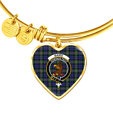 Baird Modern  Tartan Crest Heart Bangle HJ4