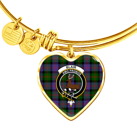 Blair Modern  Tartan Crest Heart Bangle