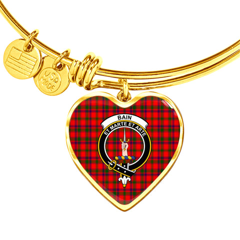 Bain  Tartan Crest Heart Bangle