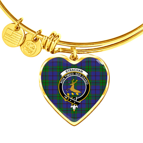 Strachan  Tartan Crest Heart Bangle HJ4
